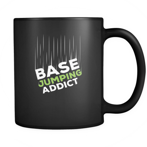 Base jumping 11 oz. Mug. Base jumping funny gift idea.