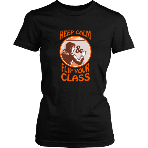 Teacher T-shirt - Keep calm flip your class