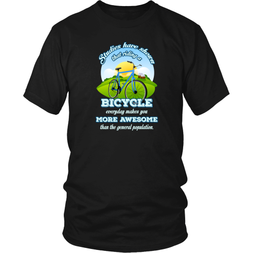 Cycling T-shirt - Riding a bicycle everyday makes you more awesome