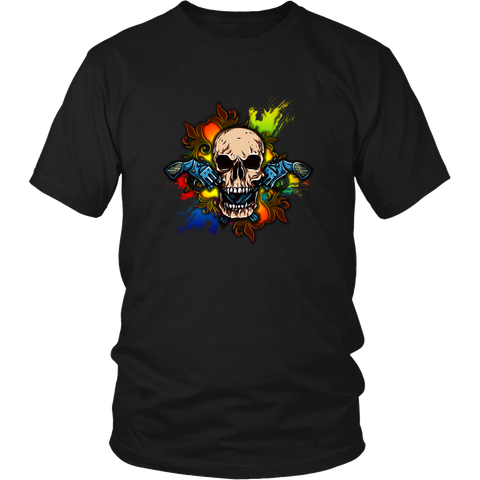 Skull T-shirt - Skull with guns