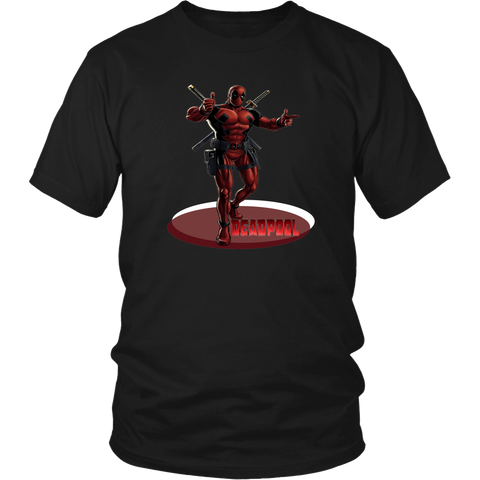 Deadpool T-Shirt - Marvel Comics Unisex Shirt Adult Men Women Casual Tee Black