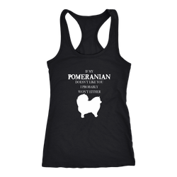 Pomeranian T-shirt, hoodie and tank top. Pomeranian funny gift idea.