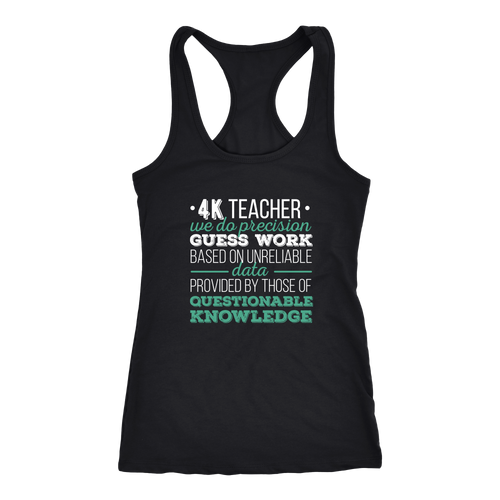 4K Teacher T-shirt, hoodie and tank top. 4K Teacher funny gift idea.