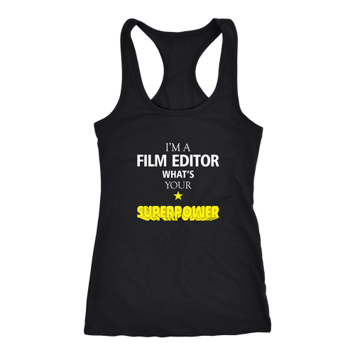 Film Editor T-shirt, hoodie and tank top. Film Editor funny gift idea.