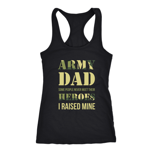 Army Dad T-shirt, hoodie and tank top. Army Dad funny gift idea.