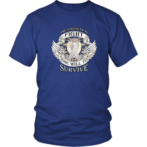 Fight Cancer T-shirt - The strenght to fight, the will to survive