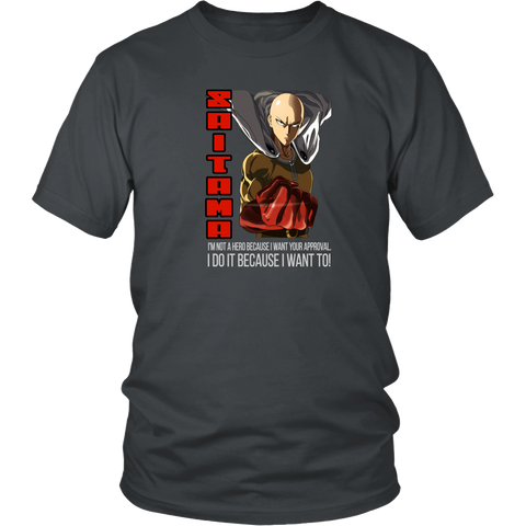 One punch man T-Shirt Anime Manga Series Unisex Adult Men Women Shirt Tees