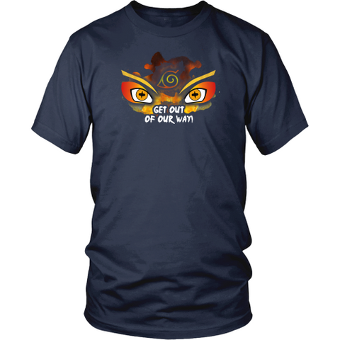 Anime T-shirt - Naruto - Get out of our way