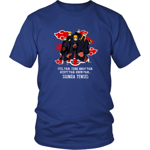 Anime T-shirt - Naruto - Shinra Tensei - Feel pain, think about pain, accept pain, know pain