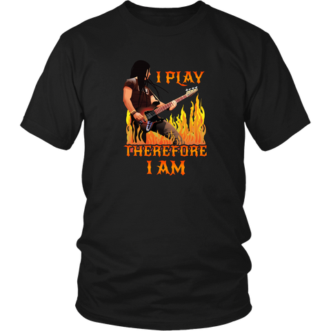 Guitar T-shirt - I play the guitar, therefore I am
