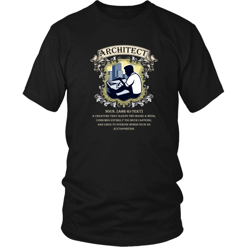Architect T-shirt - Definition of an architect