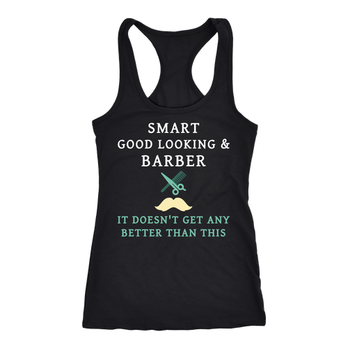 Barber T-shirt, hoodie and tank top. Barber funny gift idea.