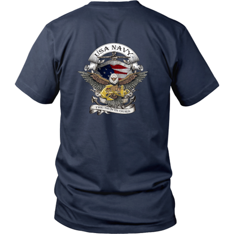 Navy T-shirt - USA Navy the sea is ours