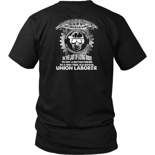 Union Laborer T-shirt Custom Back Design v2