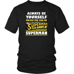 Superman T-Shirt. New Unisex Adult Black Shirt Tees