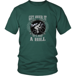 Mountain biking T-shirt - Get over it, it's just a hill
