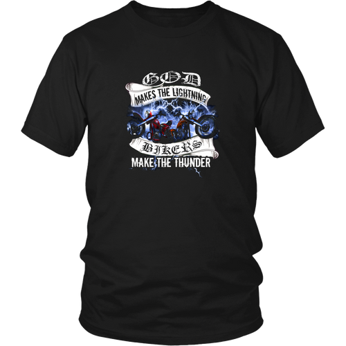 Motorcycles T-shirt - God makes the lightning, bikers make the thunder
