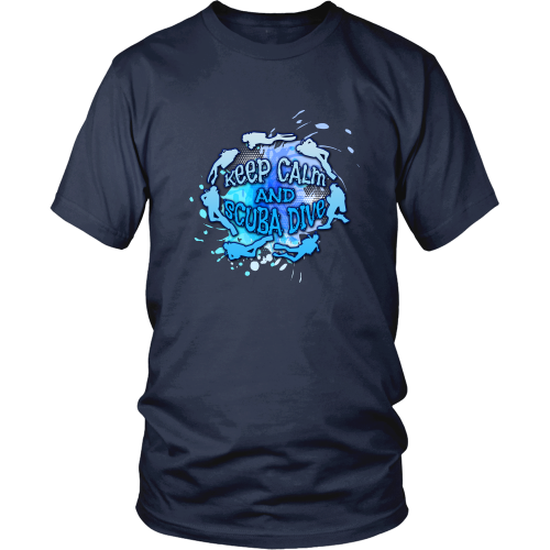Scuba diving T-shirt - Keep calm and scuba dive