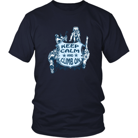 Rock climbing T-shirt - Keep calm and climb on