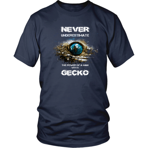 Gecko T-shirt - The power of man with a gecko