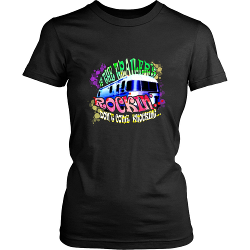 Camping T-shirt - If the trailer's rocking, don't come knocking