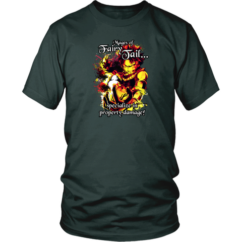 Anime t-shirt - Fairy tail - Mages of fairy tail...specialize in property damage!