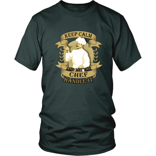 Chef T-shirt - Keep calm and let the chef handle it