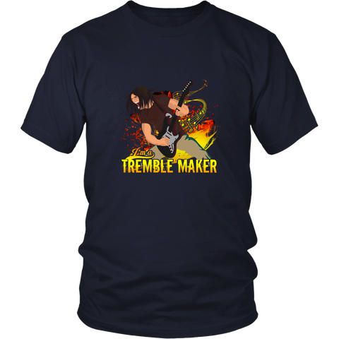 Bass Guitar T-shirt - I am a tremble maker