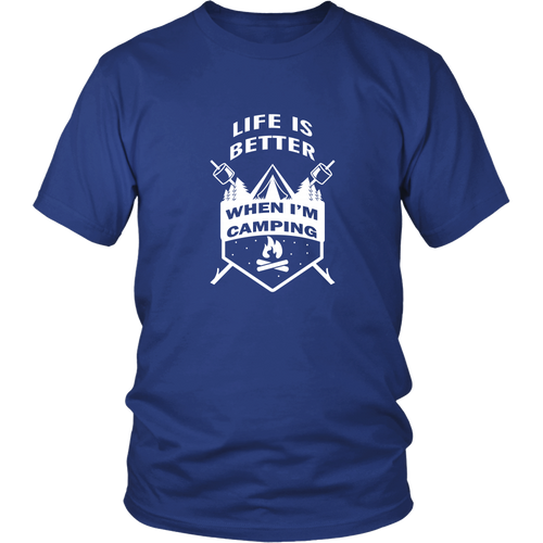 Camping T-shirt - Life is better when I'm camping