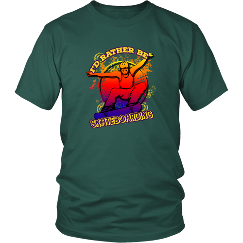 Skateboarding T-shirt - I'd rather be skateboarding