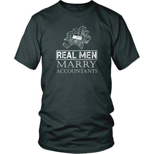 Accountant T-shirt - Real men marry accountants