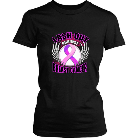 Fight cancer T-shirt - Lash out breast cancer