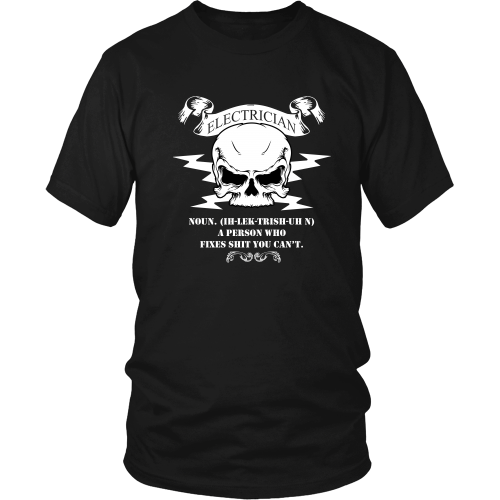 Electrician T-shirt - The definition of an electrician