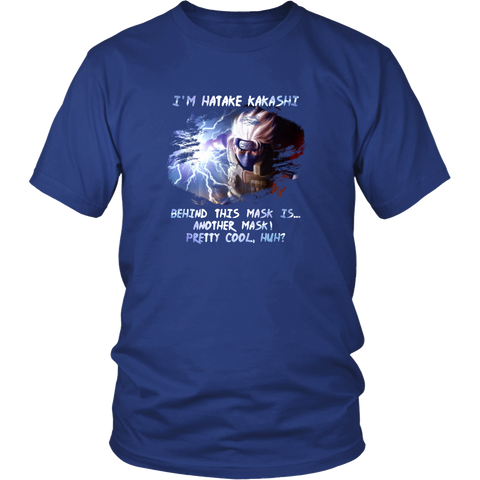 Anime T-shirt - Naruto - Kakashi Hatake  - Behind this mask is... another mask
