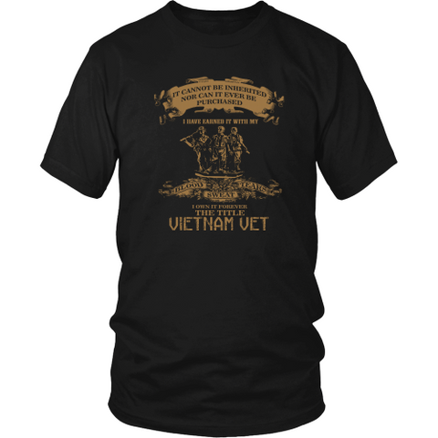 Veterans T-shirt - The title Vietnam veteran