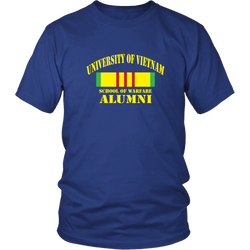Vietnam Veterans T-shirt - University of vietnam school of warfare alumni (Front Print)
