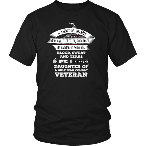 Veteran - Custom Daughter of a Veteran T-shirt