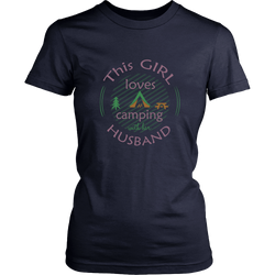 Camping T-shirt - This girl loves camping with her husband