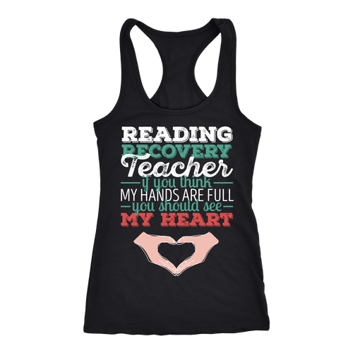 Reading Recovery Teacher T-shirt, hoodie and tank top. Reading Recovery Teacher funny gift idea.