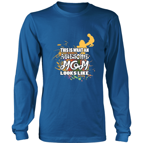 Mother t shirt this is what an awesome mom looks like for Pitbull mom af shirt