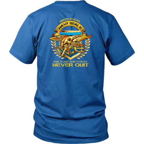Navy T-shirt - US Navy seals never quit