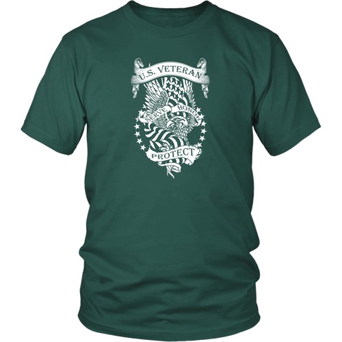 Veteran T-Shirt - Us Veteran - Serve, Honor, Protect