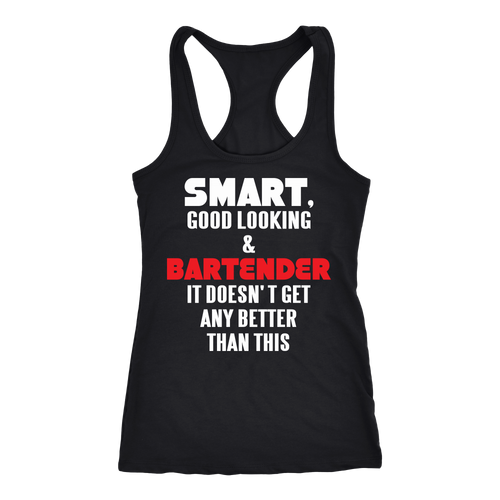 Bartender T-shirt, hoodie and tank top. Bartender funny gift idea.