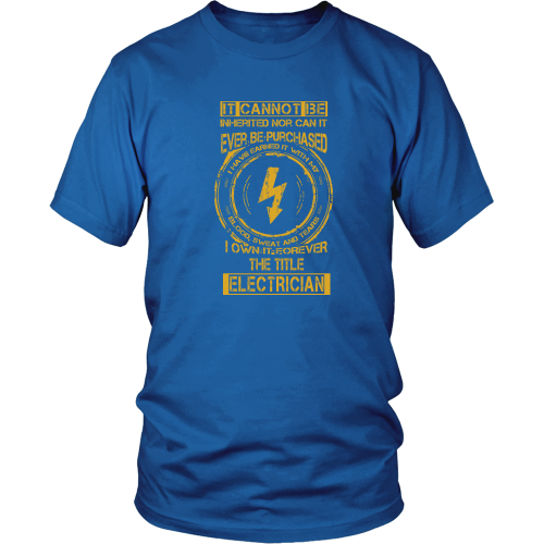 Electrician T-shirt - It cannot be inherited