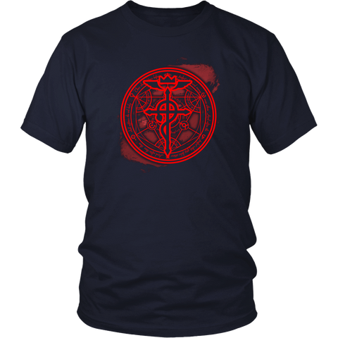 Anime T-shirt - Fullmetal alchemist - And after these there shall appear the red body