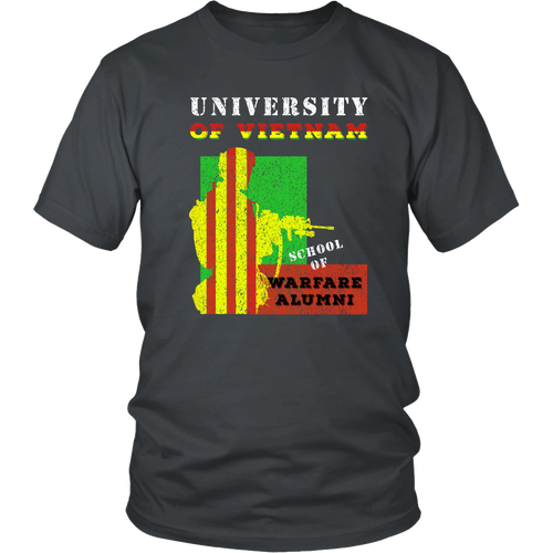 Vietnam Veteran T-shirt - University of Vietnam. School of Warfare Alumni