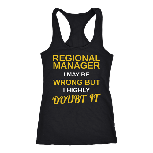 Regional Manager T-shirt, hoodie and tank top. Regional Manager funny gift idea.