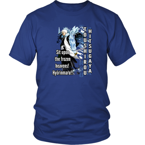 Anime T-shirt - Bleach - Toushirou Hitsugaya - Sit upon the frozen heavens!