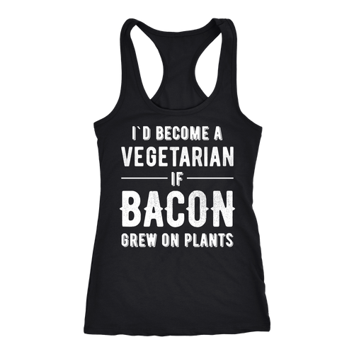 Bacon T-shirt, hoodie and tank top. Bacon funny gift idea.