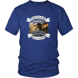 Veterans T-shirt - Vietnam- Beautiful beaches, tropical weather and nightly fireworks (Front print)